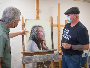 Photo Gallery: A Peek Inside Two Fine Arts Painting Classes