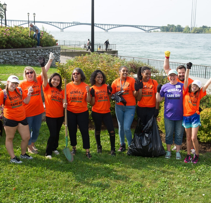 Dare to Care Group at the marina