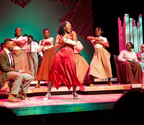 The Color Purple dancers on stage