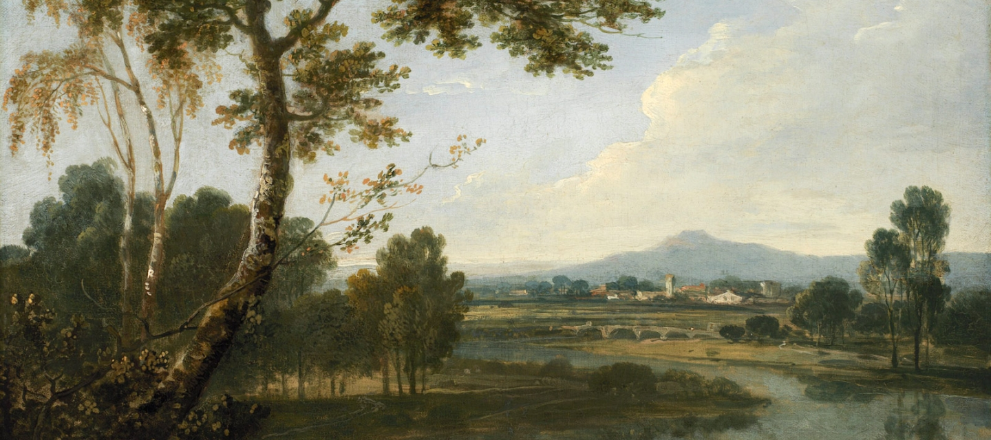 An Italian painting of a landscape