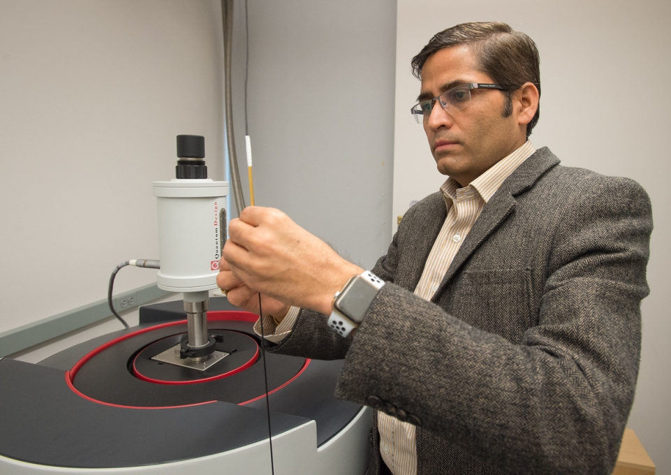 Professor Pathak in a physics lab